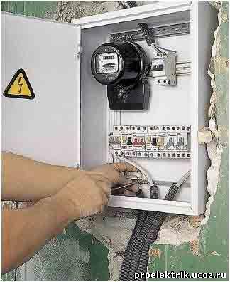 Электрический счетчик в щите