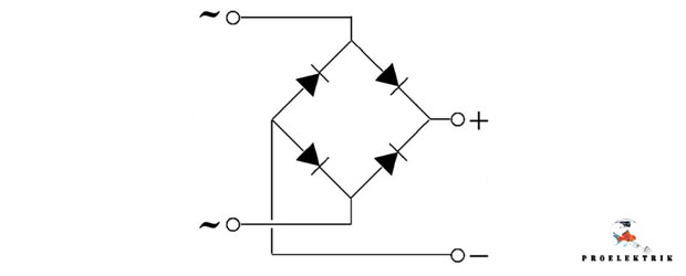 Схематичное изображение диодного моста