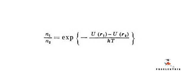 Формула к закону распределения Больцмана